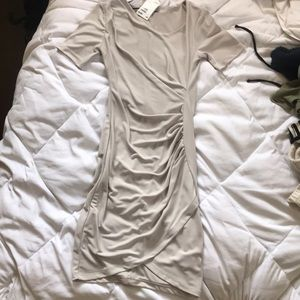 H&M XS gray business casual dress